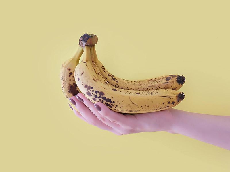 Healthy ice cream recipe made from frozen bananas.