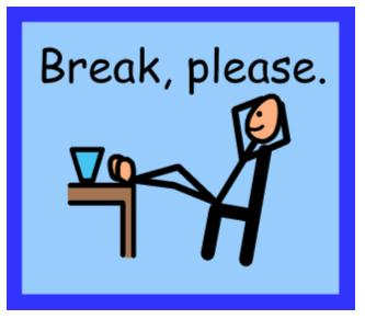 Image result for i need a break card