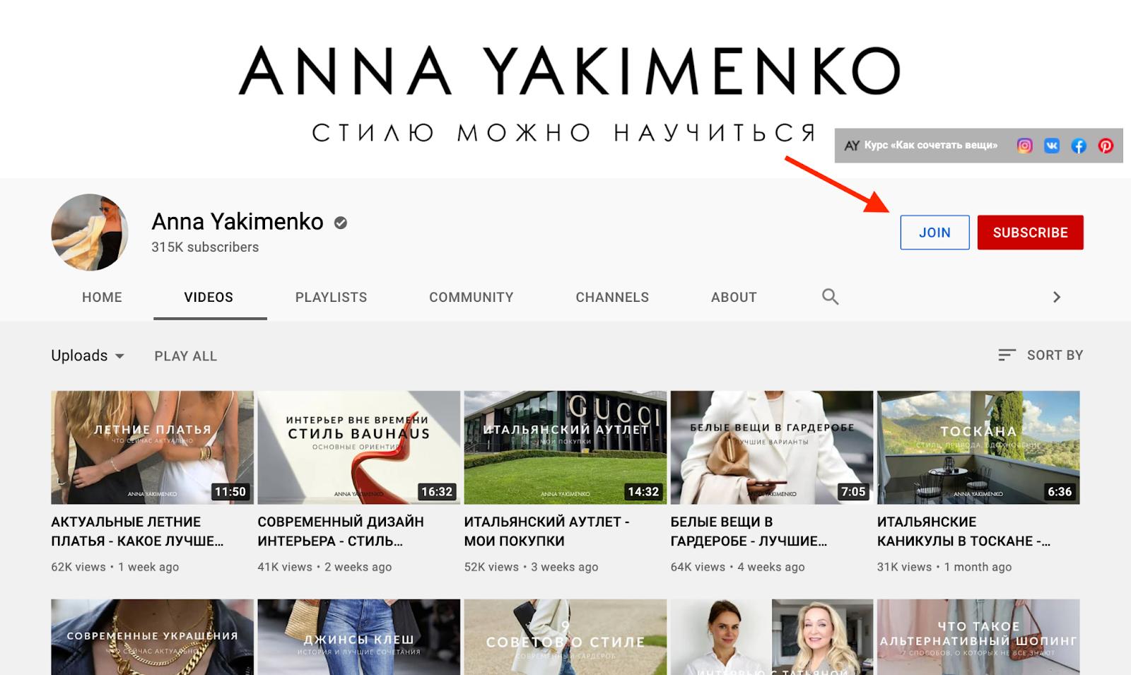 YouTube Monetization Example: Anna Yakimenko