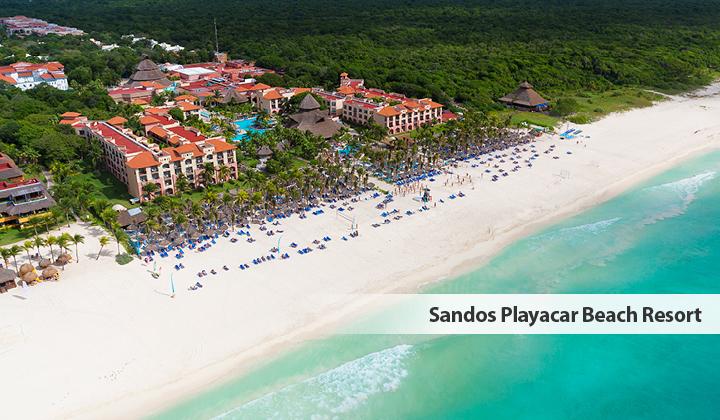 Sandos Playacar Beach Resort - Drone View