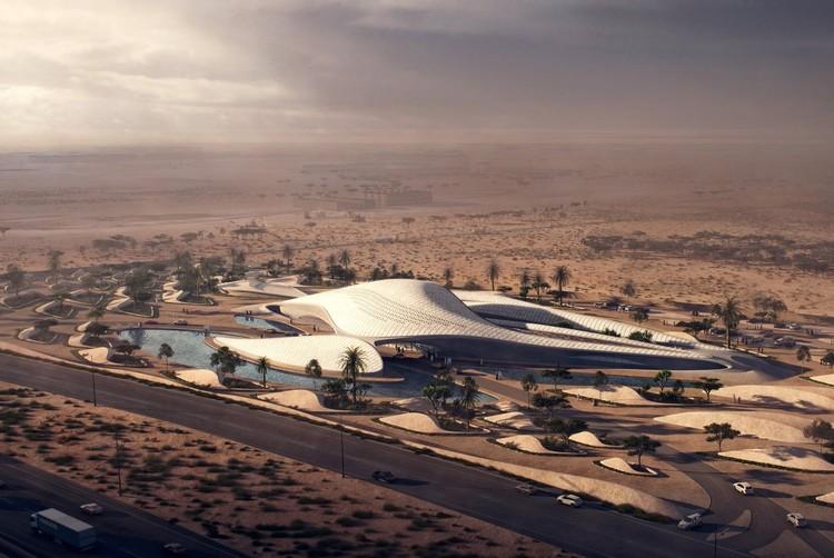 Bee'ah Headquarters. Image Courtesy of Zaha Hadid Architects