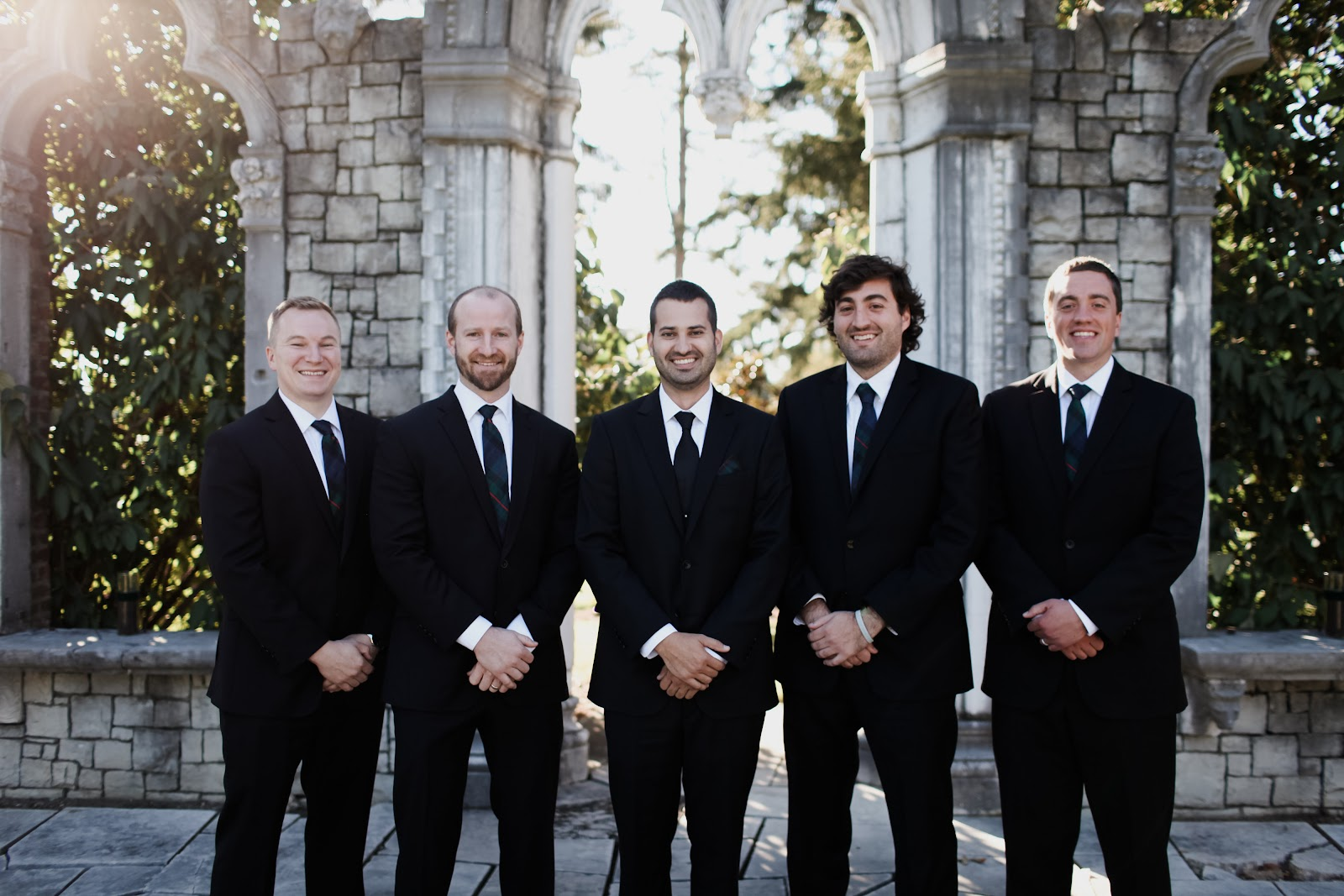 Todays woman now how this bride filled her wedding with we asked the guys to wear any black suit they already had and had their ties specially handmade in scotland out of the same material as the bridesmaids ombrellifo Image collections