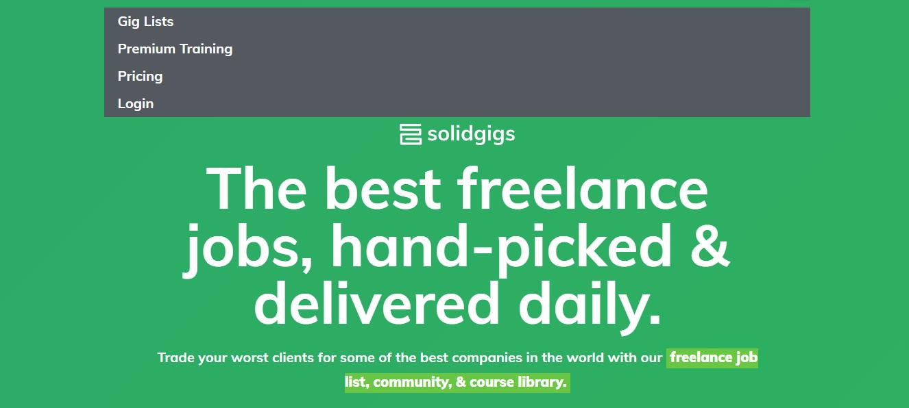 Solidgigs - Remote Jobs Website
