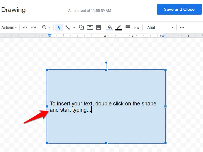Text Box added in google docs