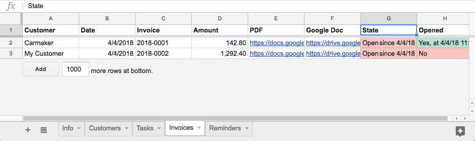 Invoicing for G Suite