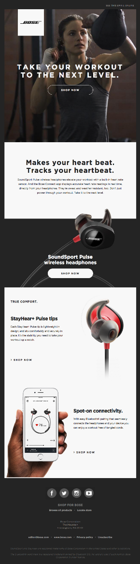 Bose email campaign example