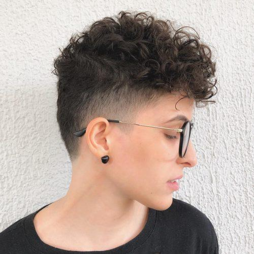 Super short curly pixie
