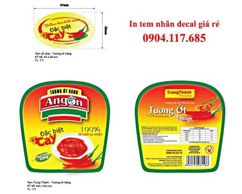 thiết kế in tem nhãn thực phẩm tại hà nội
