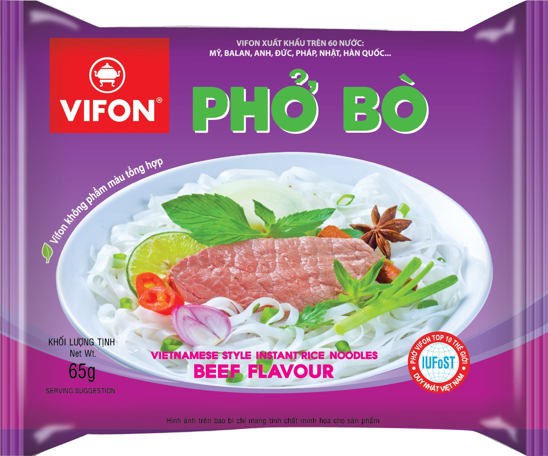 Bao bì phở Vifon - TKBBP02 - Thiết kế bao bì vỏ hộp theo yêu cầu sáng tạo tại Hà Nội, TP Hồ Chí Minh.