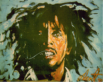 bob marley speed painting