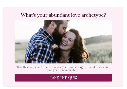 What's your love archetype quiz cover