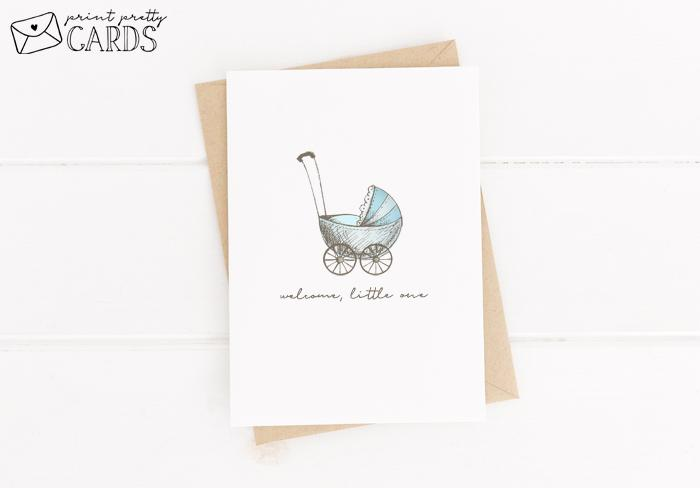 Blue Baby Shower Card Printable