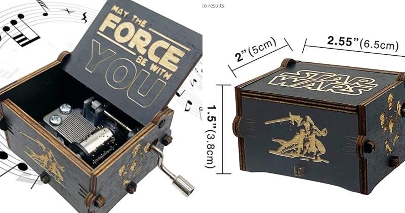 Dāvanas Star Wars faniem mūzikas kastīte