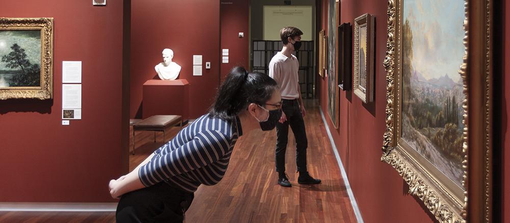 Students in gallery at Utah Museum of Fine Arts