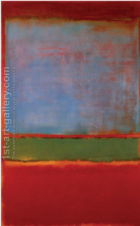 Violet, Green, Red. The painting by Mark Rothko (inspired by)