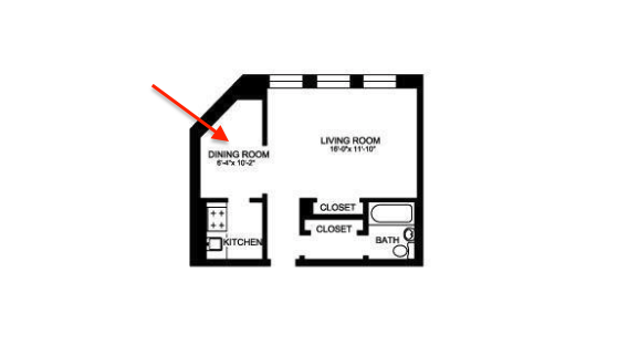 1400 N Lake Shore studio floor plan
