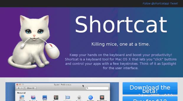 công cụ startup miễn phí - Shortcat