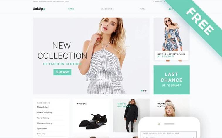 лучший бесплатный шаблон темы ботстрапа веб-сайт модная коллекция женская одежда