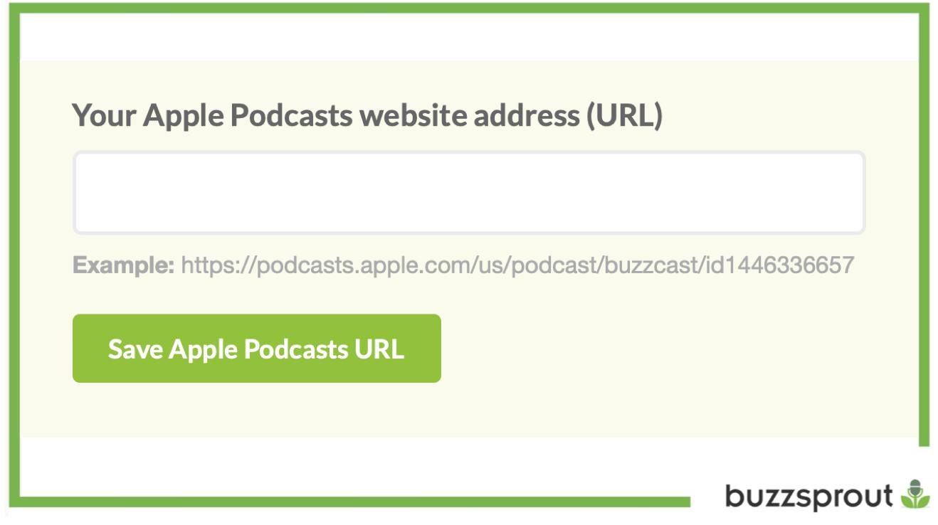 Buzzspourt Save Apple Podcasts URL button