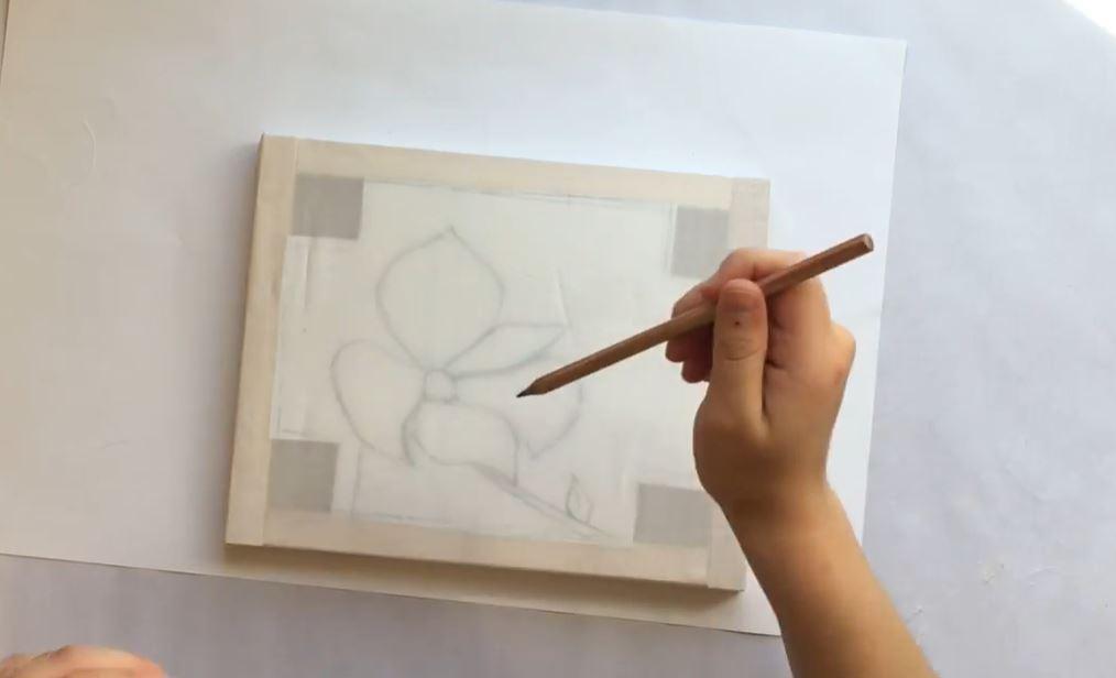 sketch on the silk
