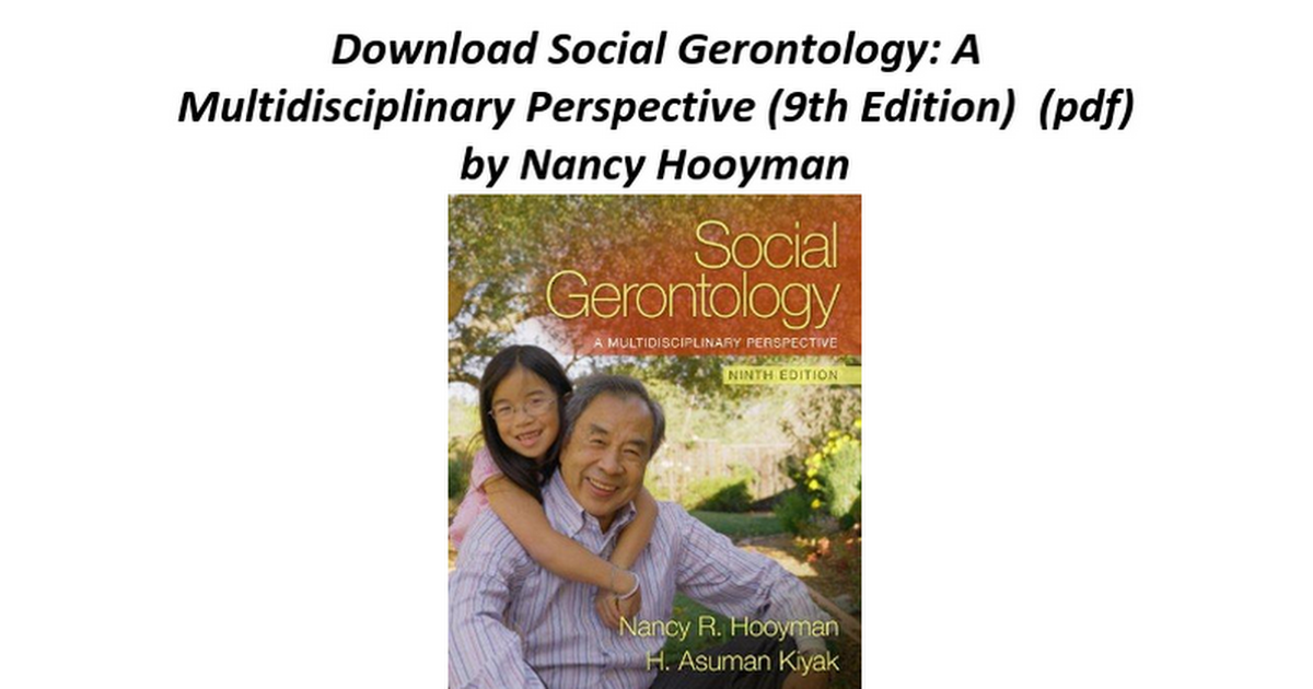 Social gerontology a multidisciplinary perspective 9th edition social gerontology a multidisciplinary perspective 9th edition google docs fandeluxe Gallery