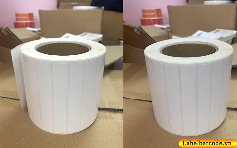 Giấy in mã vạch 4 tem làm từ giấy decal thường xé rách