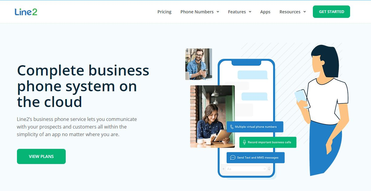 Line2 is one of the best business phone services providers