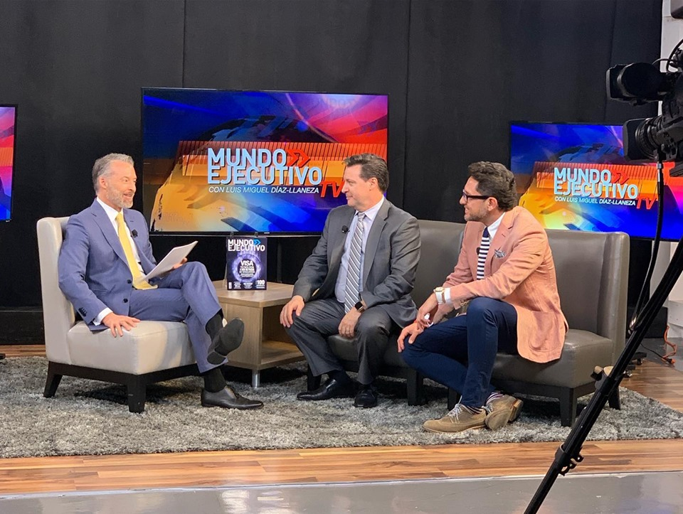 TouchBistro CEO Alex Barrotti on a Mexican talk show discussing the EVO partnership