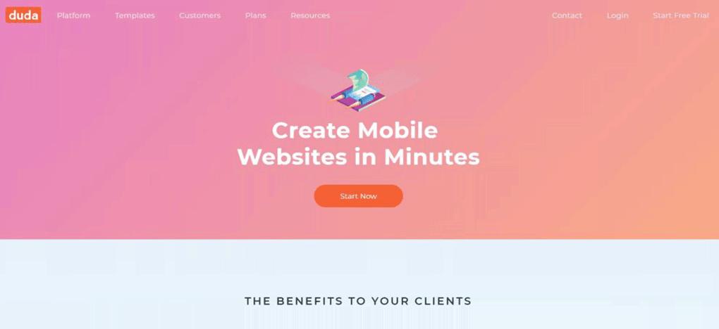 conversor online duda mobile para criar sites responsivos
