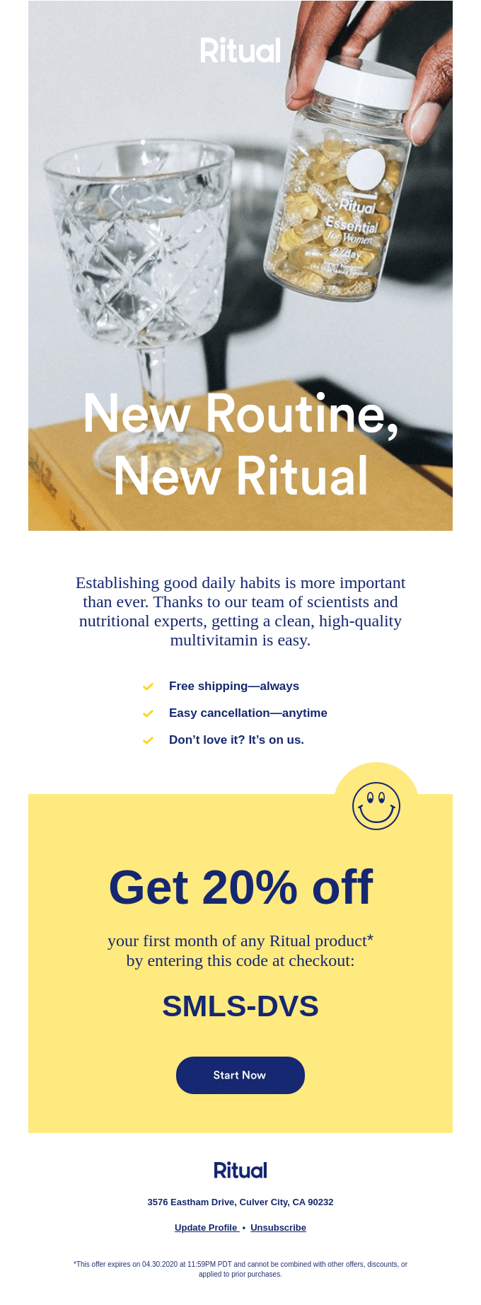 ritual ecommerce email marketing