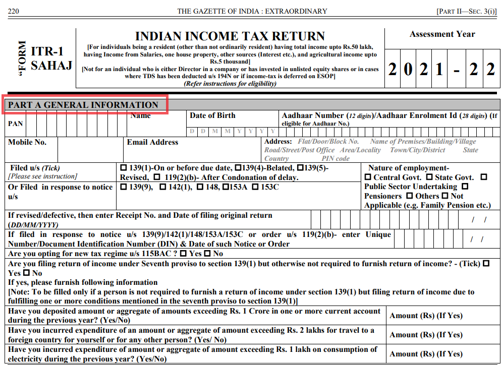 What is ITR 1 Form_3