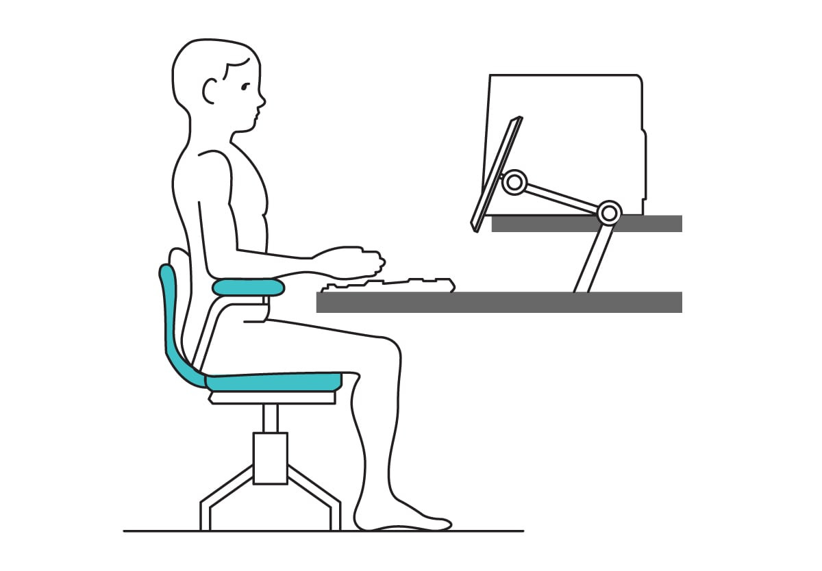 how to sit in a chair illustration