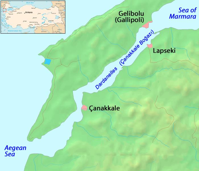 Lage von Gallipoli