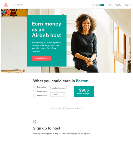 Landing Page Airbnb - Estratégia de marketing digital
