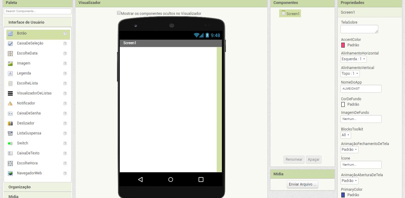 Como criar um aplicativo gratuito com o APP Inventor-1