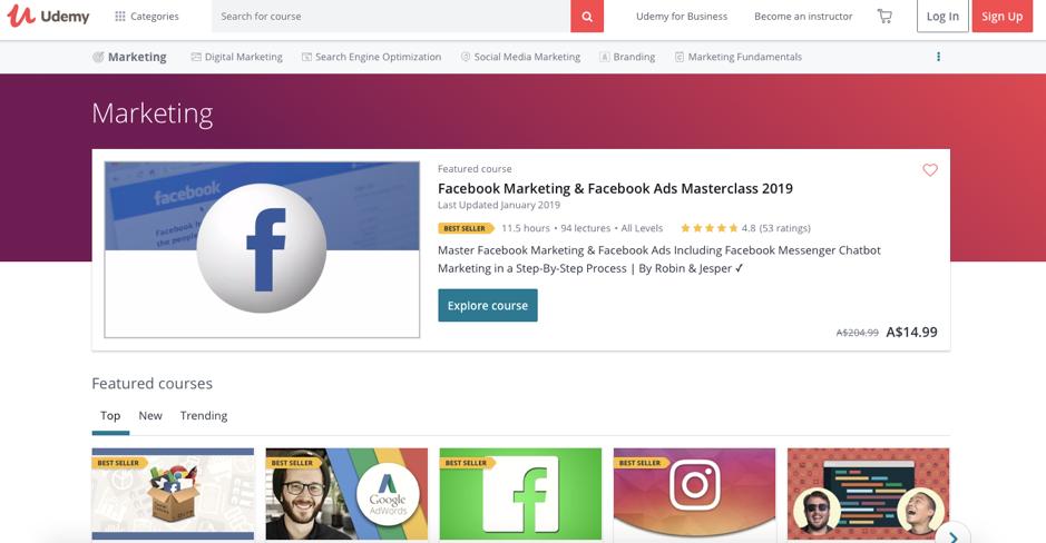 Best digital marketing tools - Udemy