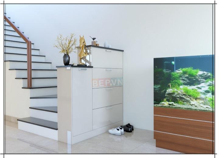 Tủ giày Acrylic hiện đại cho phòng khách sang trọng và gọn gàng.