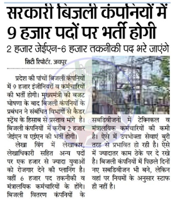 Rajasthan Vidyut Vibhag Recruitment 2020