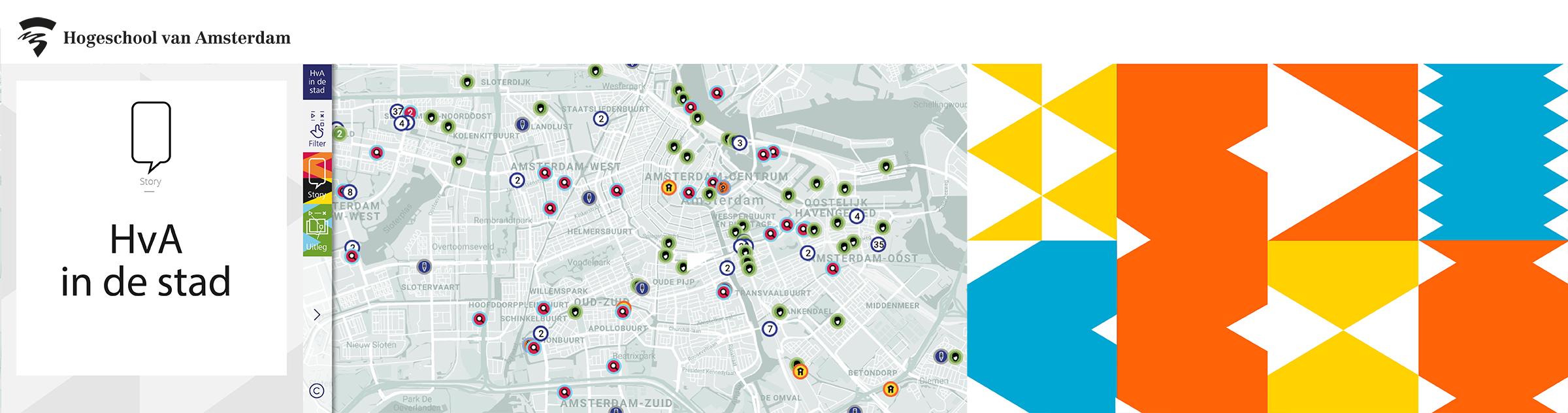 Webtool HvA in de Stad: alle onderwijs- en onderzoeksprojecten in kaart