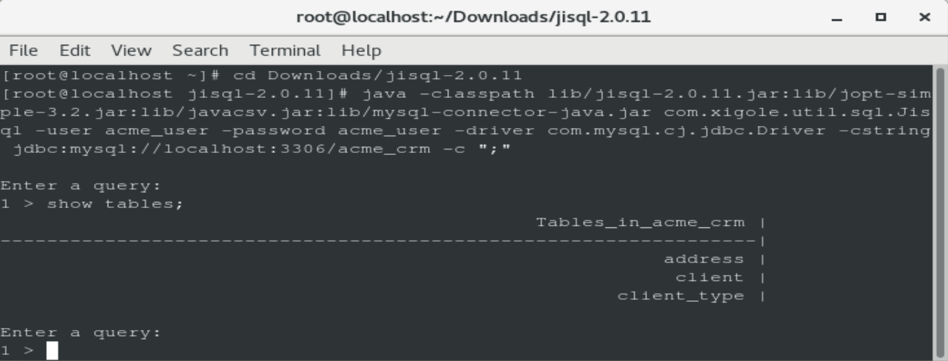 Testing JDBC connections