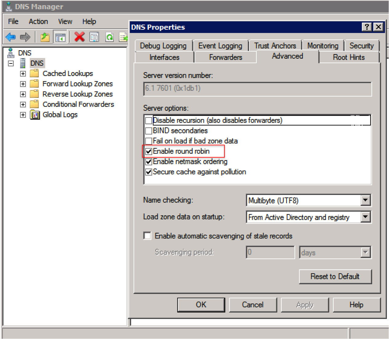Configure DNS Round Robin On A Windows Server For Qumulo