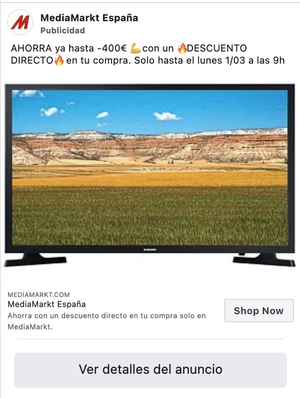 Los anuncios de media markt como ecommerce