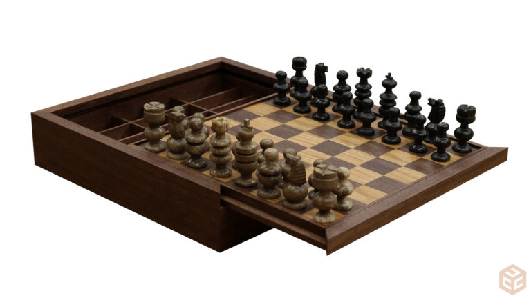 chess board and box, a craft that makes money