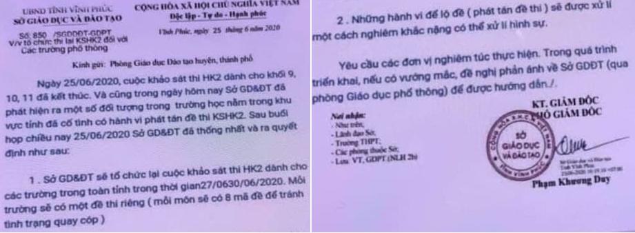 Vĩnh Phúc: HS lớp 11 'quậy như quỷ', giả văn bản Sở Giáo Dục bị phạt gần 4 triệu đồng
