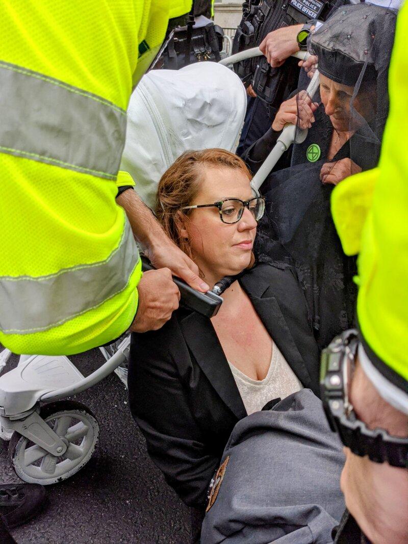 a rebel being arrested