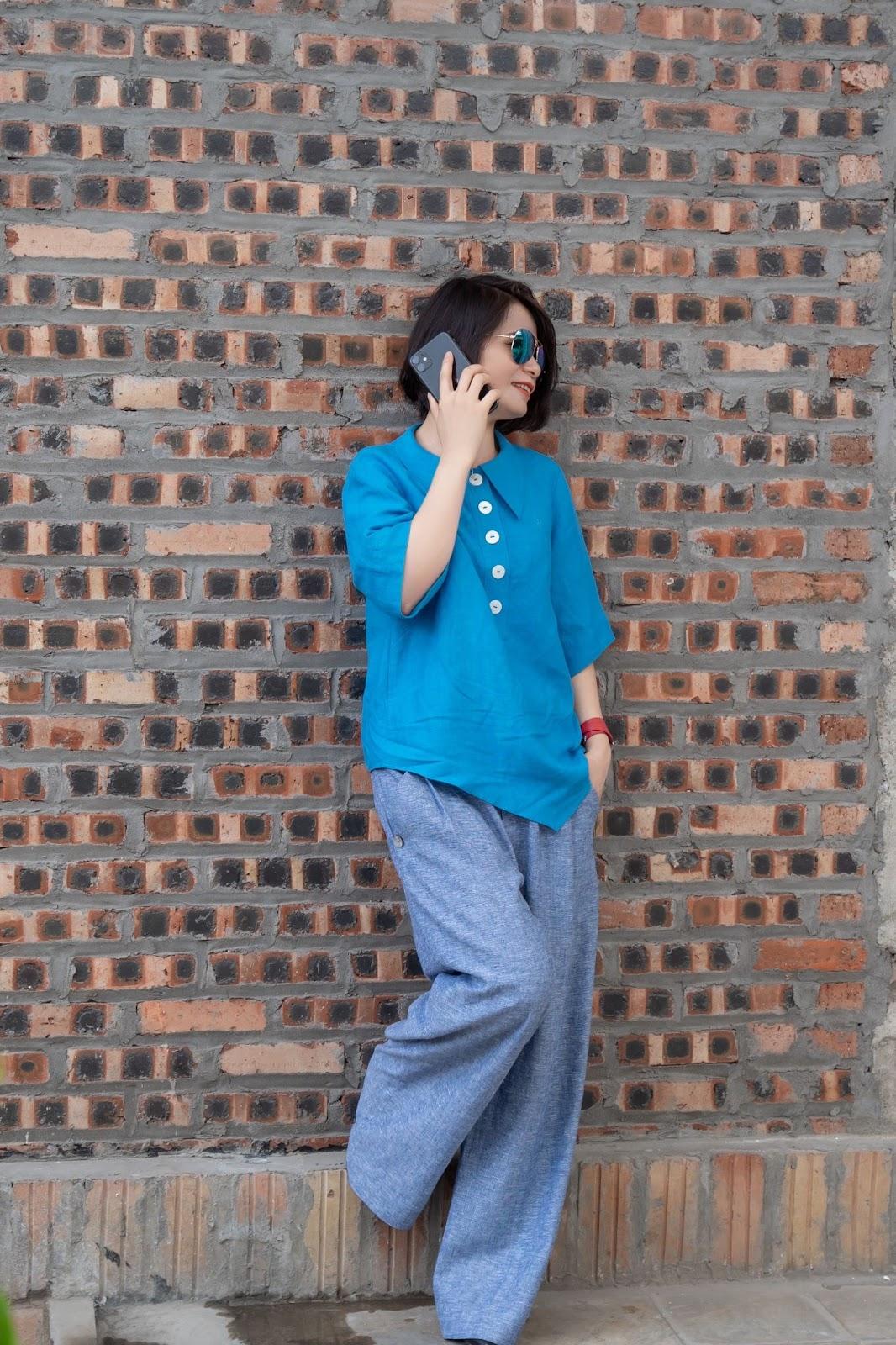 Phong cách Street Style cùng áo sơ mi nữ form rộng tay lỡ