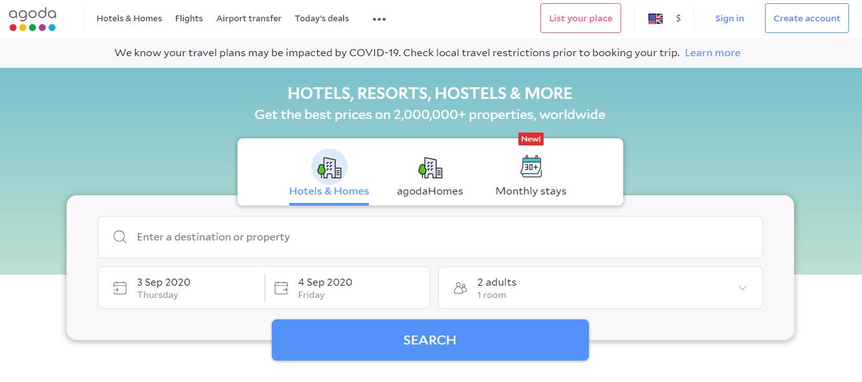 Top Online Hotel Reservation System - Agoda