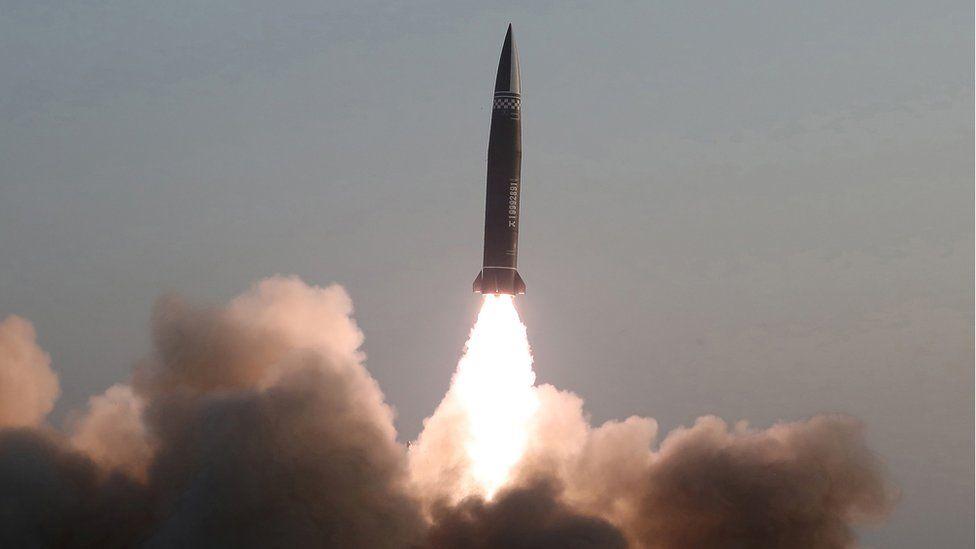 การเปิดตัวขีปนาวุธตัวใหม่ของเกาหลีเหนือ 02