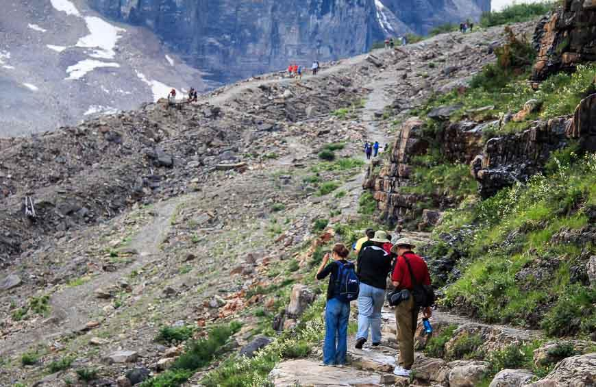 The hike up to the Plain of Six Glaciers (also called the Lake Louise Teahouse) can be done in 4 hours return