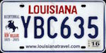Image of the Louisiana state license.